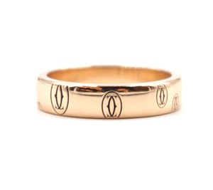 Cartier 18K gold Happy Birthday band ring size 48 3.9mm wide