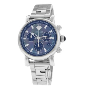Versace New Versace Day Glam VLB08 0014 Stainless Steel 38MM MOP Chrono Quartz