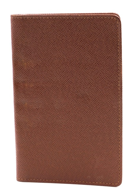 Item - #24422 Gold Light Brown Lv Taiga Leather Bifold Credit Card Business Id Pass Monogram Lv Logo Wallet
