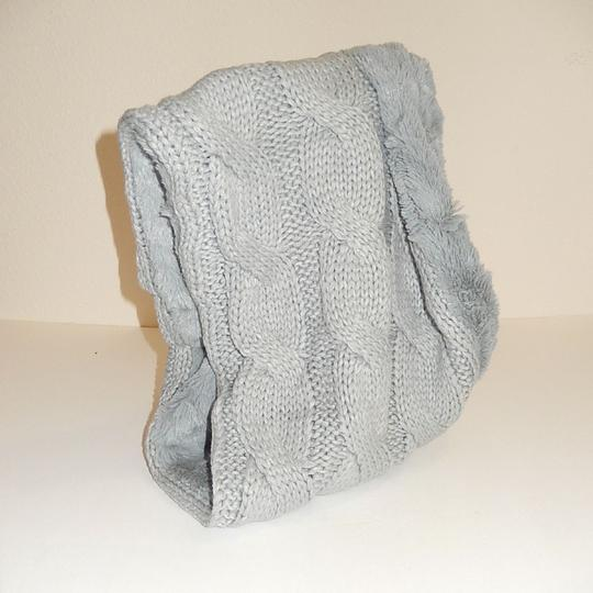 Boutique Chunky Solid Cable Knitted & Faux Fur Infinity Scarf Image 1