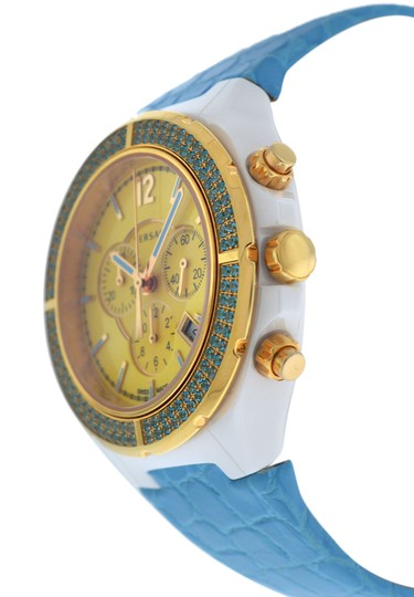 Versace New Versace DV One Cruise 28CCP12D585 S531 Ceramic 42MM Topaz Turquois Image 1