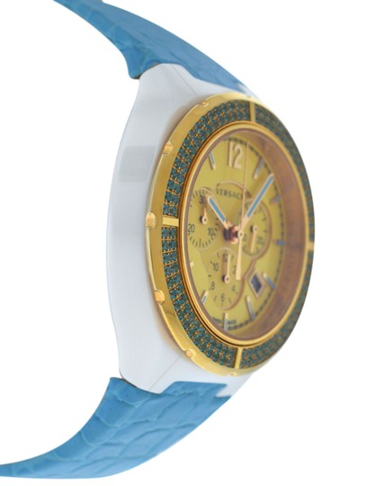 Versace New Versace DV One Cruise 28CCP12D585 S531 Ceramic 42MM Topaz Turquois Image 2
