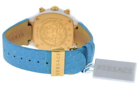 Versace New Versace DV One Cruise 28CCP12D585 S531 Ceramic 42MM Topaz Turquois Image 3