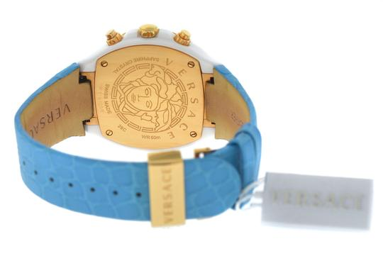 Versace New Versace DV One Cruise 28CCP12D585 S531 Ceramic 42MM Topaz Turquois Image 4