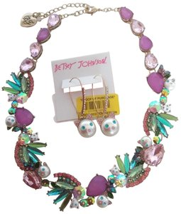 Betsey Johnson Betsey Johnson New Kitten Necklace and Earrings
