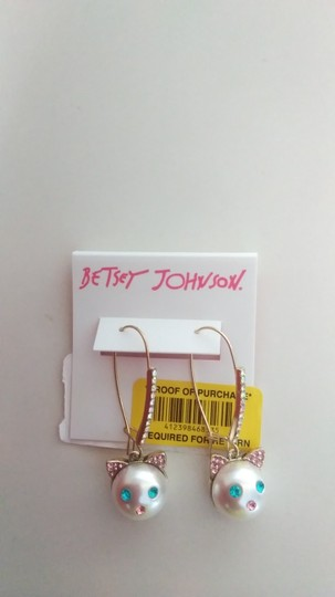 Betsey Johnson Betsey Johnson New Kitten Necklace and Earrings Image 5