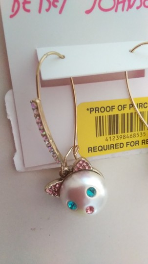 Betsey Johnson Betsey Johnson New Kitten Necklace and Earrings Image 6
