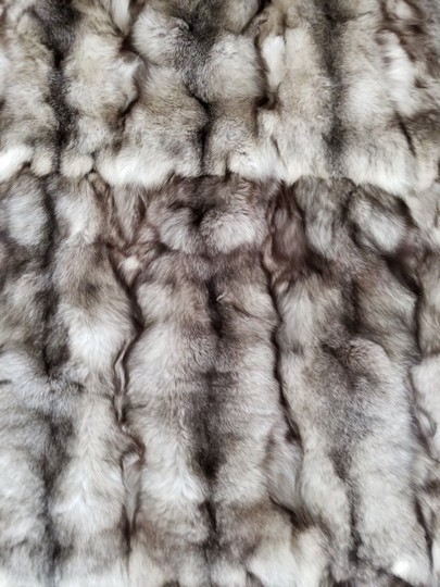 Unbranded Silver Fox Indigo Large Fur Blanket / Fur Throw /Bedspread 70X99 Image 3
