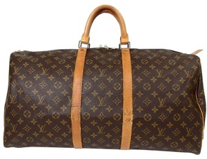 Louis Vuitton Keepall 55 Luxury Monogram Travel Bag