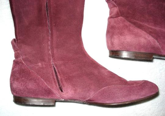 Boden Genuine Leather Suede Made In Italy Burgundy Boots Image 1