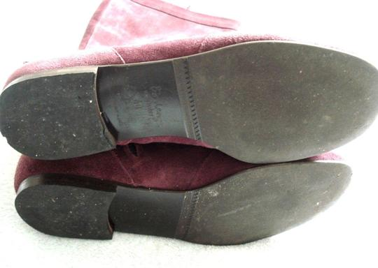 Boden Genuine Leather Suede Made In Italy Burgundy Boots Image 10