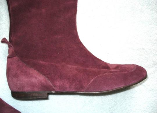 Boden Genuine Leather Suede Made In Italy Burgundy Boots Image 2