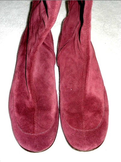 Boden Genuine Leather Suede Made In Italy Burgundy Boots Image 3