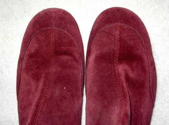 Boden Genuine Leather Suede Made In Italy Burgundy Boots Image 4