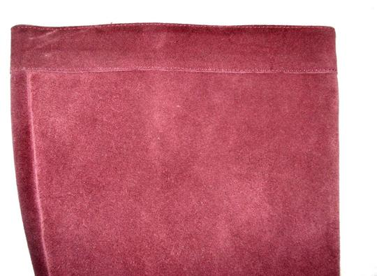Boden Genuine Leather Suede Made In Italy Burgundy Boots Image 6