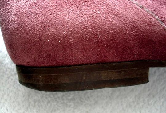 Boden Genuine Leather Suede Made In Italy Burgundy Boots Image 7