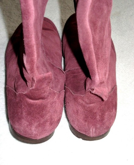 Boden Genuine Leather Suede Made In Italy Burgundy Boots Image 8