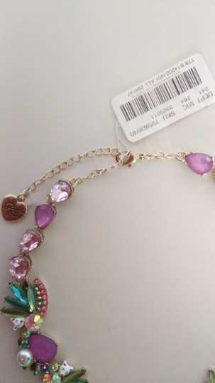 Betsey Johnson Betsey Johnson New Kitten and Flower Necklace & Earrings Image 4