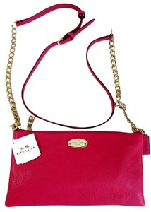 Coach Shoulder Chain Leather Strap Quinn Leather Cross Body Bag