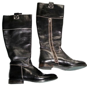Boden Made In Spain Genuine Leather Suede Kneehigh Black Boots