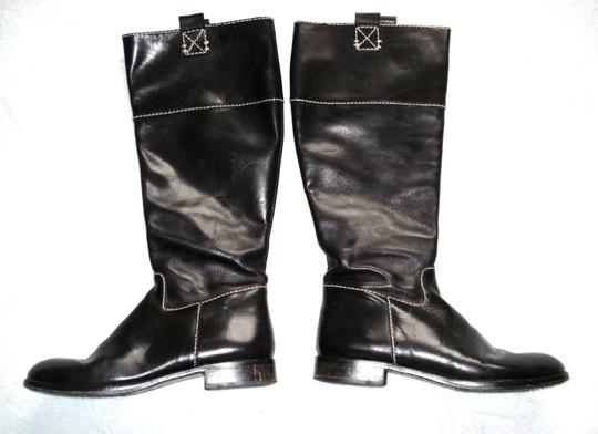 Boden Made In Spain Genuine Leather Suede Kneehigh Black Boots Image 1