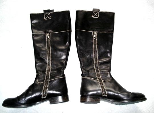 Boden Made In Spain Genuine Leather Suede Kneehigh Black Boots Image 2