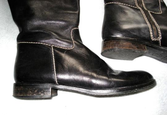 Boden Made In Spain Genuine Leather Suede Kneehigh Black Boots Image 4