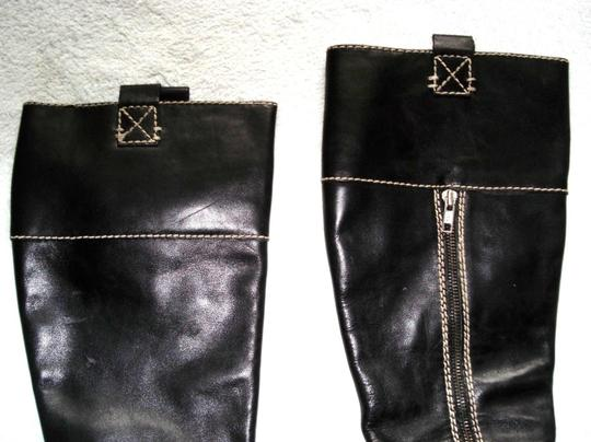Boden Made In Spain Genuine Leather Suede Kneehigh Black Boots Image 5
