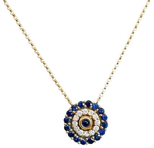 Preload https://img-static.tradesy.com/item/24443682/blue-sapphire-and-circle-pendant-necklace-0-1-540-540.jpg