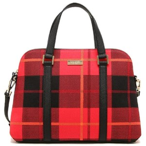 Kate Spade Plaid Satchel in Red and Black