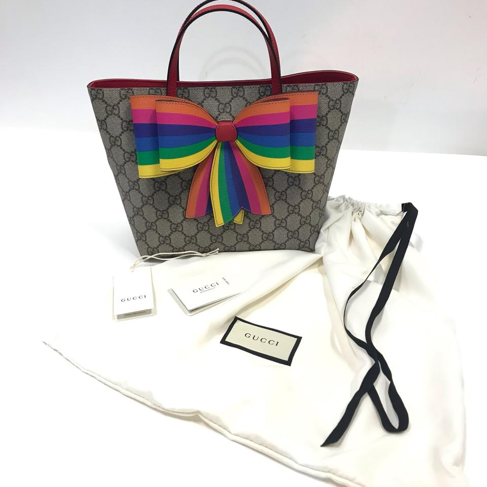 3408167d563d Gucci Children's Gg Supreme Rainbow Canvas Tote - Tradesy