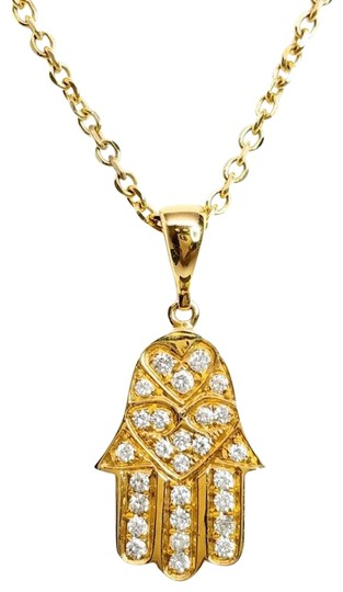 Preload https://img-static.tradesy.com/item/24443768/hasma-in-yellow-gold-necklace-0-1-540-540.jpg