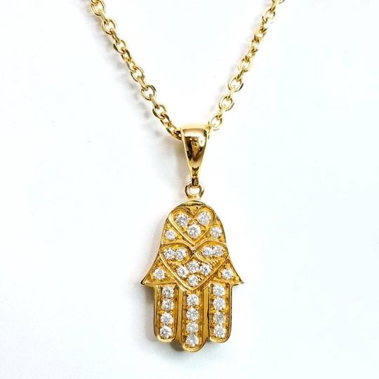 Sea Wave Diamond Hasma in Yellow Gold Image 2
