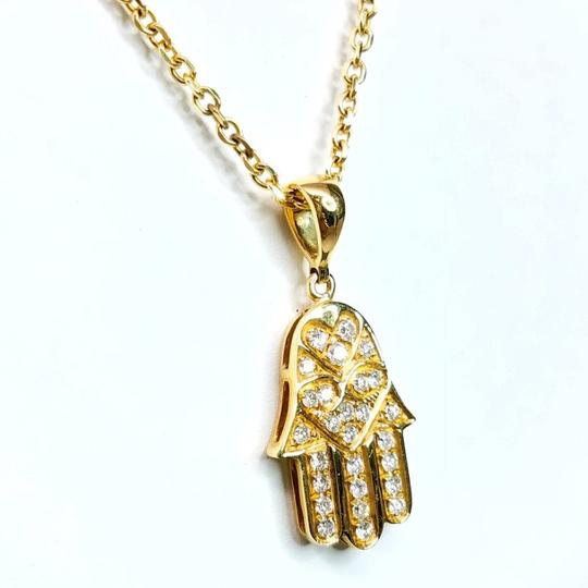 Sea Wave Diamond Hasma in Yellow Gold Image 3