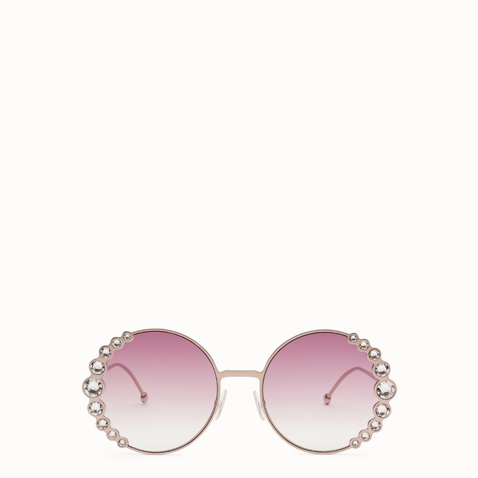 a75faaee4f Fendi Fendi FF0324 S 035J Ribbons and Crystals Round Sunglasses Image 0 ...