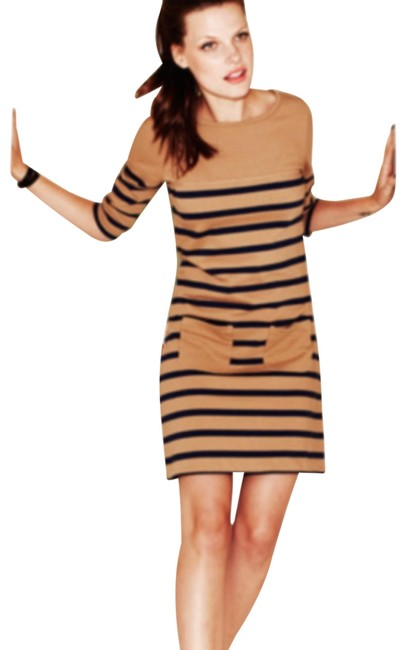 Preload https://img-static.tradesy.com/item/24443900/boden-tan-taupenavy-striped-breton-knit-with-pockets-uk8-short-casual-dress-size-4-s-0-1-650-650.jpg