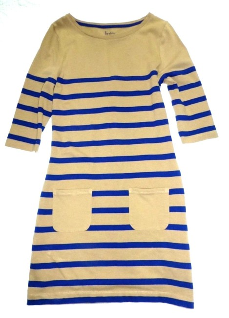 Boden short dress Tan Striped Breton Knit 2 Pockets on Tradesy Image 1