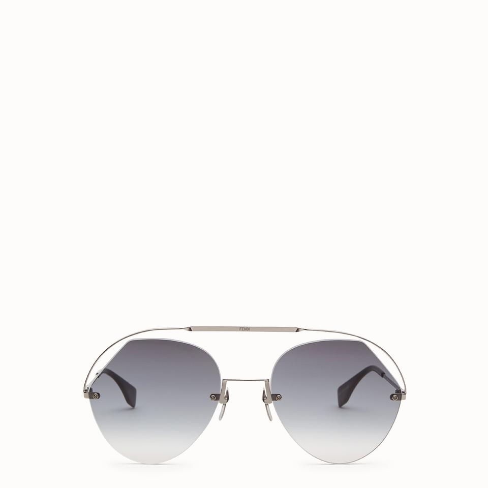 5bad584296 Fendi Grey 0326 S Ff0326 S Ribbons and Crystals Round Sunglasses ...