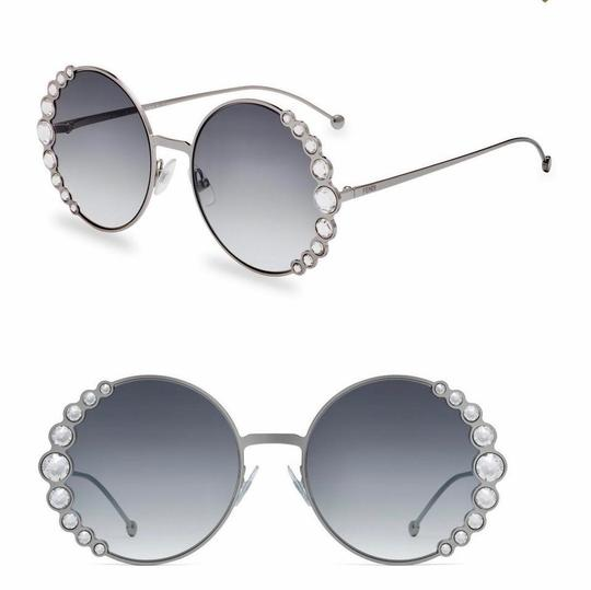 Fendi Fendi 0324/S FF0324/S Ribbons and Crystals Oversized Round Sunglasses Image 1