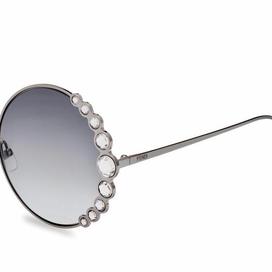 Fendi Fendi 0324/S FF0324/S Ribbons and Crystals Oversized Round Sunglasses Image 2