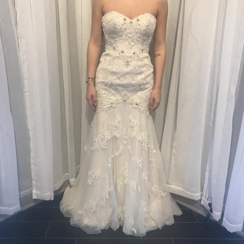 918fb4f79176 Stella York Ivory Lace Over Almond Lining and 6051 Formal Wedding Dress