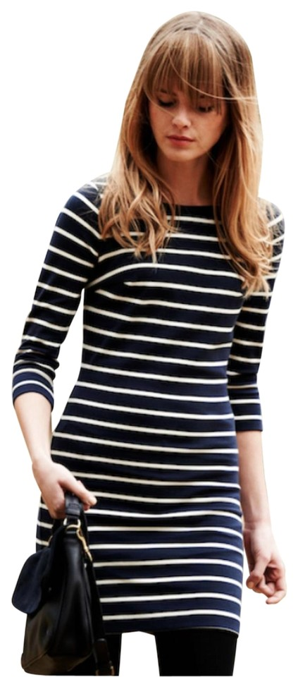 8b48bfd10c6 Boden Blue Navy Striped Nautical Breton Knit Tunic (Uk12) Casual Dress