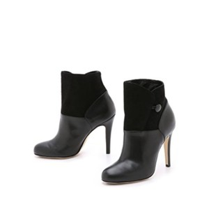 Sarah Flint Black smooth leather and suede Boots