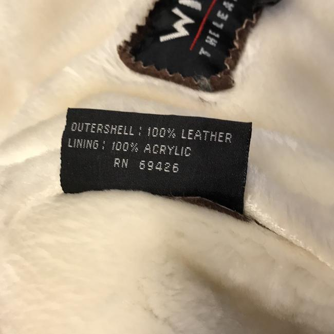 Wilsons Leather Brown/Ivory Leather Jacket Image 3