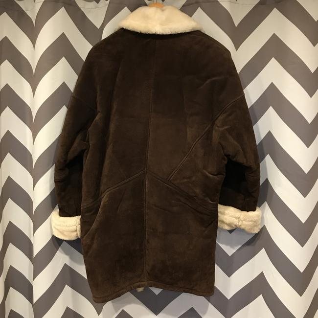 Wilsons Leather Brown/Ivory Leather Jacket Image 8