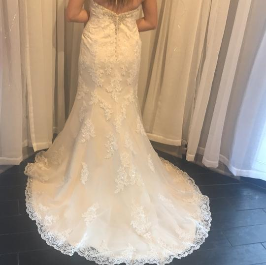 Stella York Ivory Lace Overlay Over Gold Lining and 6119dmzp Formal Wedding Dress Size 8 (M) Image 1