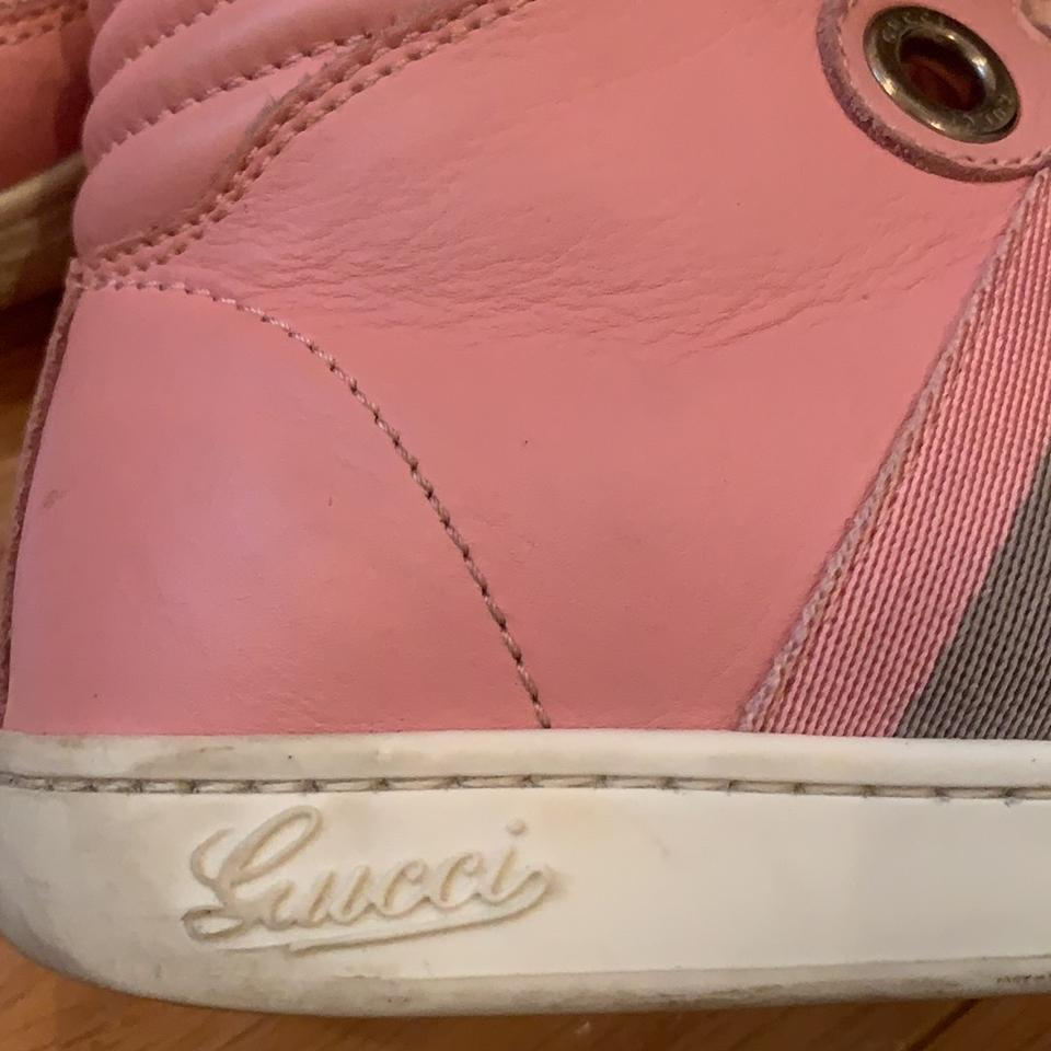 f83e1a7ef07 Gucci Pink Girls Hi Top Sneakers 33 Sneakers Size US 4 Regular (M
