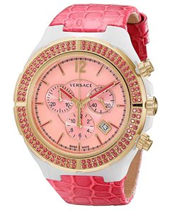 Versace New Versace DV One Cruise 28CCP15D111 S111 Ceramic Rose Gold IP 43MM