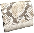 Coach Coach Metallic Leather Small Wallet Platinum /Silver F39084