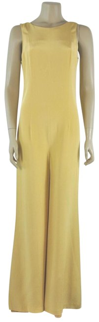Preload https://img-static.tradesy.com/item/24444124/paul-and-joe-yellow-v-back-sleeveless-silk-size-40-romperjumpsuit-0-1-650-650.jpg